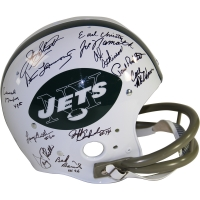 1969 New York Jets Team Signed Throwback Helmet Signed by (23) with Joe Namath, Don Maynard, Emerson Boozer (Steiner COA)