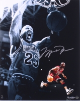 "Michael Jordan Signed LE Bulls ""Slam Dunk"" 16x20 Photo (UDA COA)"