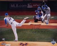 "Noah Syndergaard Signed LE Mets 2015 World Series 16x20 Photo Inscribed ""Meet Me 60' 6"" Away"" (Steiner COA & MLB Hologram)"