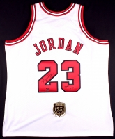 "Michael Jordan Signed Bulls Authentic On-Court Jersey with Hall of Fame Patch Inscribed ""2009 HOF"" (UDA COA)"