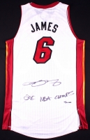 "LeBron James Signed LE Heat Adidas Authentic On-Court Jersey Inscribed ""2X NBA Champs"" (UDA COA)"