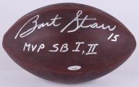 """Bart Starr Signed Official NFL Game Ball Inscribed """"MVP SB I, II"""" (TriStar Hologram)"""