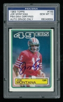 Joe Montana Signed 1983 Topps #169 (PSA Encapsulated)
