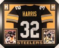 Franco Harris Signed Steelers 35x43 Custom Framed Jersey (JSA COA)