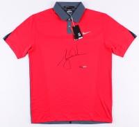 Tiger Woods Signed LE Red Nike Golf Shirt (UDA COA)