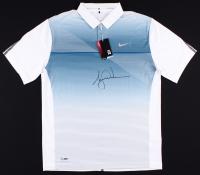 Tiger Woods Signed LE Blue Metallic Nike Golf Shirt (UDA COA)