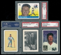 Lot of (4) PSA Graded Yankees Greats Baseball Cards with Lou Gehrig, Babe Ruth & Mickey Mantle