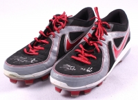"Pair of (2) Mike Trout Signed Angels Game-Used 2013 Nike Baseball Shoes Inscribed ""13 G/U"" (Anderson LOA)"