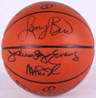 Magic Johnson, Larry Bird & Julius Erving Triple Signed Basketball (PSA LOA)