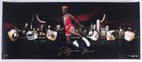 "Michael Jordan Signed LE Bulls ""City of Rings"" 15x30 Photo (UDA COA)"
