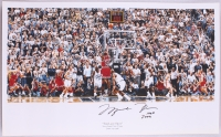 "Michael Jordan Signed LE Bulls ""The Last Shot"" 22x36 Photo Inscribed ""HOF 2009"" (UDA COA)"