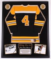 "Bobby Orr Signed Bruins 43"" x 50"" Custom Framed Jersey (Great North Road COA & PSA COA)"