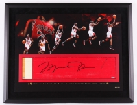 Michael Jordan Signed Bulls 28x36 Custom Framed Authentic Game-Used Floor Piece Limited Edition #23/23 (UDA COA)