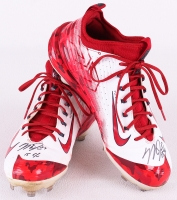 "Pair of (2) Mike Trout Signed 2015 Angels Game-Used Custom Nike Baseball Shoes Inscribed ""15 G/U"" (Anderson LOA)"