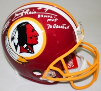 """Joe Theismann Signed Redskins Full-Size Authentic Pro-Line Helmet Inscribed """"SB XVII Champs,"""" """"83 NFL MVP"""" & """"70 Greatest"""" Limited Edition #1/7 (Steiner COA)"""