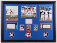 Multi-Signed 1961 Yankees Commemorative 27x36 Custom Framed Photo, Cut & Card Display with (8) Signatures Including Mickey Mantle, Whitey Ford, Roger Maris, Elston Howard (JSA & PSA)