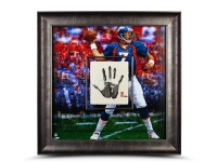 John Elway Signed LE Broncos 36x36 Custom Framed Tegata Handprint Display (UDA COA)