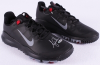 """Tiger Woods Signed New Pair of Black Nike """"TW"""" Golf Shoes (UDA COA)"""