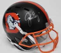 John Elway Signed Broncos Custom Matte Black Full-Size Authentic Pro-Line Helmet (JSA COA & Elway Hologram)