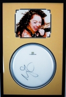 Miley Cyrus Signed 18x27 Custom Framed Drumhead Display (JSA LOA)