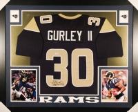 Todd Gurley Signed Rams 35x43 Custom Framed Jersey (PSA COA)
