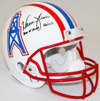 "Warren Moon Signed Oilers Full-Size Authentic Pro-Line Helmet Inscribed ""HOF 06"" & ""Run N' Shoot"" (Radtke COA)"