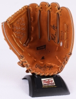 Nolan Ryan Signed Rawlings 7th No Hitter Commemorative Full-Size Professional Model Glove With Stand (Ryan Hologram)