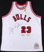 Michael Jordan Signed LE 1984-85 Bulls Custom Stitched Rookie of the Year Authentic On-Court Jersey (UDA COA)