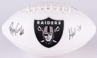 """Ray Guy Signed Raiders Logo Football Inscribed """"HOF '14"""" (JSA COA)"""