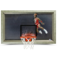 Michael Jordan Signed Bulls 18x30 Acrylic Backboard Display (UDA COA)