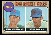 1968 Topps Rookie Stars Jerry Koosman / Nolan Ryan #177 RC
