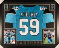 Luke Kuechly Signed Panthers 35x43 Custom Framed Jersey (JSA COA)