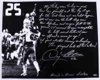 """Doug Flutie Signed Boston College """"Hail Mary"""" 16x20 Story Photo with Extensive Inscription (Steiner COA)"""