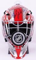 "Dominik Hasek Signed Red Wings Full-Size Goalie Mask Inscribed ""HOF 14"" (Schwartz COA)"