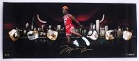 "Michael Jordan Signed LE Bulls ""City of Rings"" 18x36 Photo (UDA COA)"