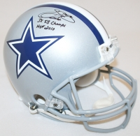 """Emmitt Smith Signed Cowboys Full-Size Authentic Pro-Line Helmet Inscribed """"3x SB Champs"""" & """"HOF 2010"""" Limited Edition #1/22 (Steiner COA)"""