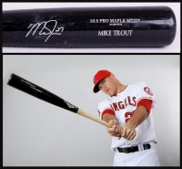Mike Trout Signed & Game-Used 2014 Old Hickory Model MT27 Baseball Bat - PSA Game-Used Grade 9.5 (PSA LOA)