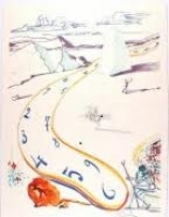 """Salvador Dali """"Melting Space-Time"""" 1975 EA Lithograph & Etching on Arches Archival Paper (PA LOA)"""