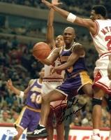 Sedale Threatt Signed Lakers 8x10 Photo (JSA COA)
