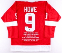 "Gordie Howe Signed Red Wings Stat Jersey Inscribed ""Mr Hockey"" (Howe Hologram & PSA COA)"