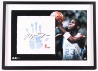 Michael Jordan Signed LE North Carolina 22x29 Custom Framed Tegata Handprint Display #19/123 (UDA COA)