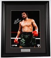 Roberto Duran Signed 17x20 Custom Framed Photo Display (PSA COA)