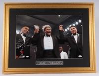 Mike Tyson Signed 21x27 Custom Framed Photo Display with Muhammad Ali (PSA COA)