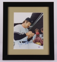 "Jim ""Catfish"" Hunter Signed Yankees 13x15 Custom Framed Display (PSA COA)"