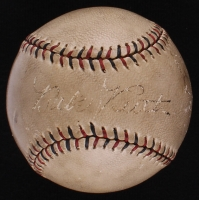 Babe Ruth & Lou Gehrig Signed Vintage OL Baseball (PSA LOA)