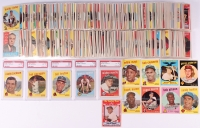 1959 Topps Complete Set of (572) Baseball Cards Including Hall of Famers & Stars with #10 Mickey Mantle (PSA 6), #20 Duke Snider, #40 Warren Spahn, #50 Willie Mays, #150 Stan Musial, #163 Sandy Koufax, #180 Yogi Berra, #202 Roger Maris
