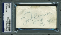 John Lennon Signed 2x3 Cut with Inscription & Hand-Drawn Sketch (PSA Encapsulated & Cox LOA)
