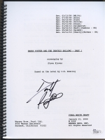 """Daniel Radcliffe Signed """"Harry Potter and the Deathly Hallows"""" Full Script (JSA COA)"""