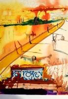 "Salvador Dali Signed ""Marquis de Sade"" 1969 Lithograph Suite of (25) on Japon Paper LE #11/J with Original Box (Dali Gallery COA)"