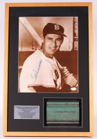 Ted Williams Signed Boston Red Sox 16x24x1 Custom Framed Shadowbox Display with Game-Used Fenway Park Center Field Wall Piece (JSA LOA & Sportsworld COA)